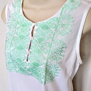 J Crew Factory Embroidered Bodice Tank Top